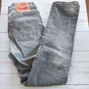 Levi's 508 Regular Tapered Fit Gray Jeans 30x30